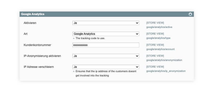 google Analytics in Magento einbinden
